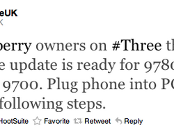 Official OS 6.0.0.448 for the BlackBerry Torch 9800, Curve 9300, Bold 9700 and 9780 from Three UK