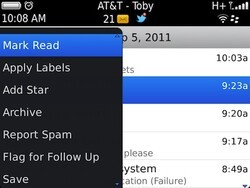 Using advanced Gmail features for Messages in BlackBerry OS 7