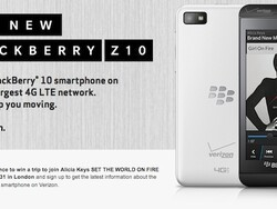Enter the 'BlackBerry Z10 Keep Moving with Alicia Keys' sweepstakes to win a trip to London or a BlackBerry Z10!
