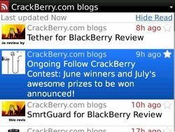 BerryReader for BlackBerry now available - Google Reader client with loads of features - 50% off through Sunday!