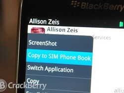 How to save a contact to your SIM phone book
