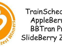Contest Winners: TrainSchedule, Fancy Characters, AppleBerry, BBTran Pro & SlideBerry Zoom