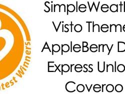 Contest Winners - SimpleWeather, Visto Themes, AppleBerry Dark, Coveroo and Express Unlock
