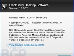 BlackBerry Desktop Manager 6.1 is on the way
