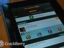 How to play Scramble With Friends on the BlackBerry PlayBook