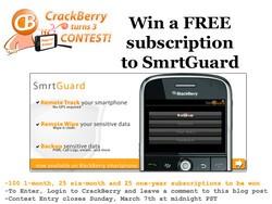 CrackBerry Turns 3 Birthday Contest: Win 1 of 150 SmrtGuard Subscriptions!