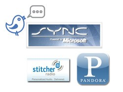 Ford Partners with OpenBeak, Pandora and Stitcher to Bring Twitter & Internet Radio Control to Vehicles