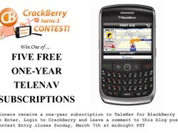 CrackBerry Turns 3 Birthday Contest: 5 One-year TeleNav Subscriptions to Be Won!
