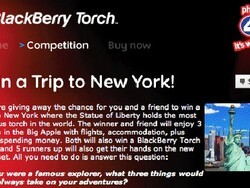 Win a BlackBerry Torch 9800 and a trip to New York courtesy of Phones 4U
