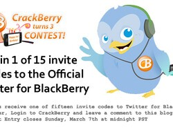 CrackBerry Turns 3 Birthday Contest: We Have 15 Official Twitter for BlackBerry Invite Codes to Give Away!
