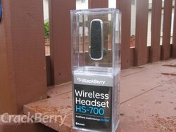 The BlackBerry HS-700 Bluetooth headset makes a Bold statement
