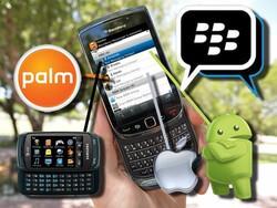Text messaging using BlackBerry Messenger