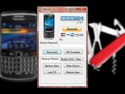BlackBerry Swiss Army Knife - a program for advanced users