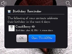 Review: Think of Me for BlackBerry