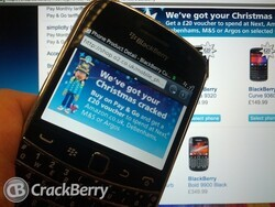 Christmas BlackBerry bargains from O2 in the UK