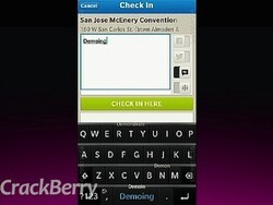 foursquare for BlackBerry 10 demonstrated at BlackBerry Jam Americas