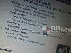 Service pack 2 for BES 5.0 specs leak out