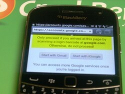 Use your BlackBerry to login to Gmail account from an unsecure computer