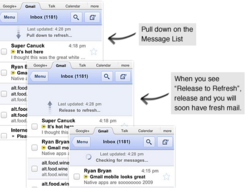 Gmail mobile now smooth rolling on the BlackBerry PlayBook