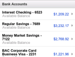 Bank of America App updated to v3.0.26 - no more web browser!