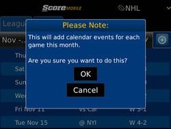 ScoreMobile for BlackBerry updated to v1.8.5 - adds OS 7 support and calendar integration