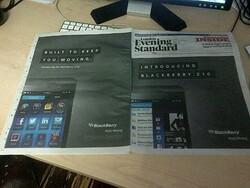 BlackBerry Z10 ads hit web and print