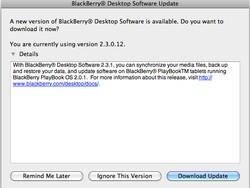 BlackBerry Desktop Manager for Mac updated to version 2.3.1