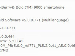 Official OS 5.0.0.464 For The BlackBerry Bold 9000 Released