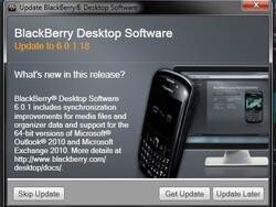 BlackBerry Desktop Software v6.0.1.18  for Windows now available