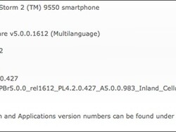 Official OS 5.0.0.983 for the BlackBerry Storm 2 9550 released by Inland Cellular