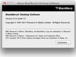 BlackBerry Desktop Software For Mac v2.2.0.17 now available for download