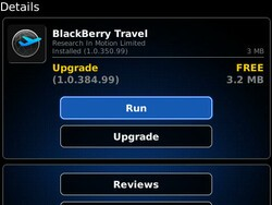 BlackBerry Travel updated to v1.0.384.99