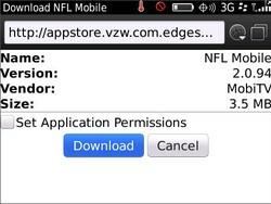 Verizon updates NFL Mobile - Now BlackBerry 6 compatible