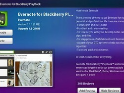 Evernote for PlayBook updated to v1.2