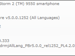Official OS 5.0.0.741 for the BlackBerry Storm 2 9520 released by Indosat