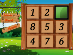 Number Puzzle: Slide the number tiles into the correct order to win