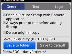 PictureTimeStamp - Easily add text and logos to pictures on your BlackBerry!