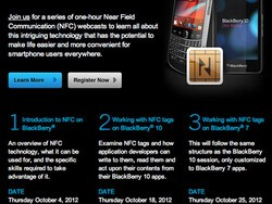 RIM hosting three new BlackBerry developer webcasts - Come learn all about NFC!