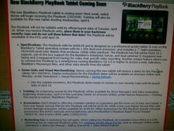 Radio Shack BlackBerry PlayBook launch details