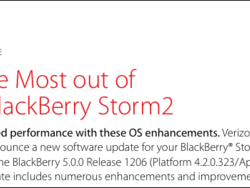 Official OS: 5.0.0.713 For The BlackBerry Storm 2 9550 From Verizon