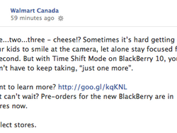 Walmart Canada now taking BlackBerry 10 pre-orders in select stores