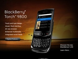 BlackBerry Torch 9800 goes live on BlackBerry site!