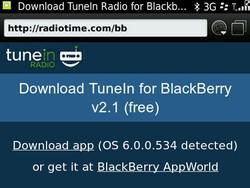 TuneIn Radio updated to v2.1