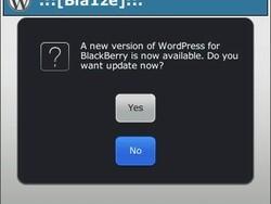 WordPress for BlackBerry updated To v1.4.4