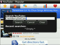 Free YouTube Player For BlackBerry Now Available