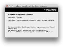 BlackBerry Desktop Software For Mac v2.1.2 now available for download