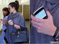 What does Kim Kardashian use her BlackBerry for? Keeping track of herself, of course
