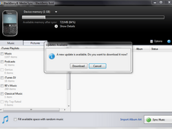 BlackBerry Media Sync Updated To Version 3.0.0.39 For PC Users