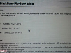 4G LTE BlackBerry PlayBook launching July 31st for $550?