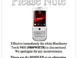 Rogers officially discontinues the White BlackBerry Torch 9800